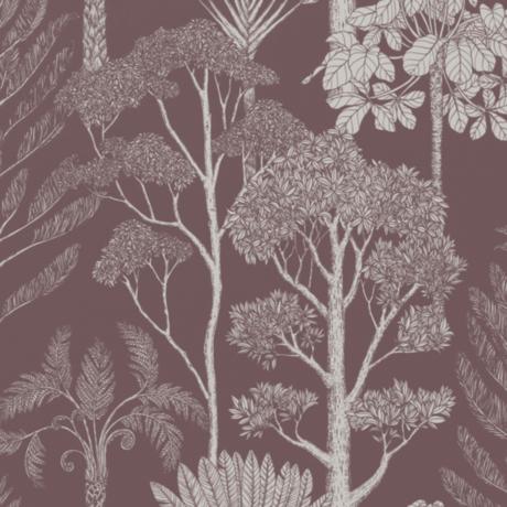 Ferm Living Papier peint intissé intissé Katie Scott Trees brun mahony 53x1000cm
