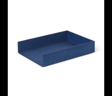 Ferm Living Tablett Briefablage blau Holz 33x24x6cm
