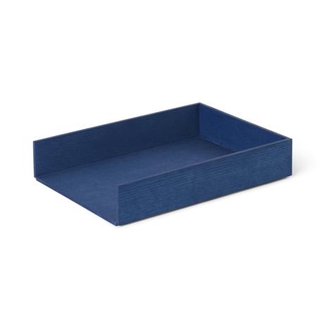 Ferm Living Tray Letter Tray blue wood 33x24x6cm