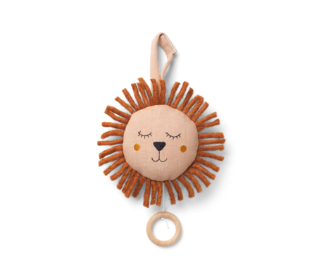 Ferm Living Music mobile Lion Dusty Pink Ø12cm