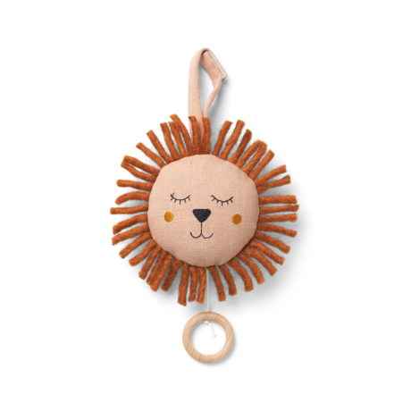 Ferm Living Mobile musical Lion Dusty Pink Ø12cm