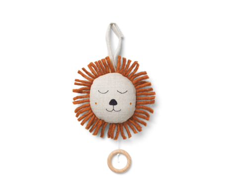 Ferm Living Musical mobile Lion natural brown Ø12cm