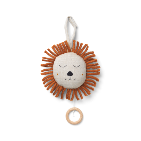 Ferm Living Mobile musical Lion naturel Ø12cm