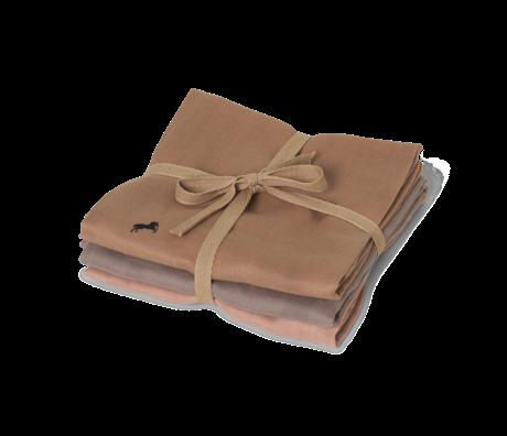 Ferm Living Tissu carré en mousseline hydrophile Cheval multicolore en coton 70x70cm lot de 3 pièces