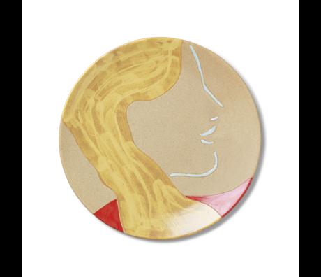 Ferm Living Assiette Mira en céramique multicolore 37.5x3 cm