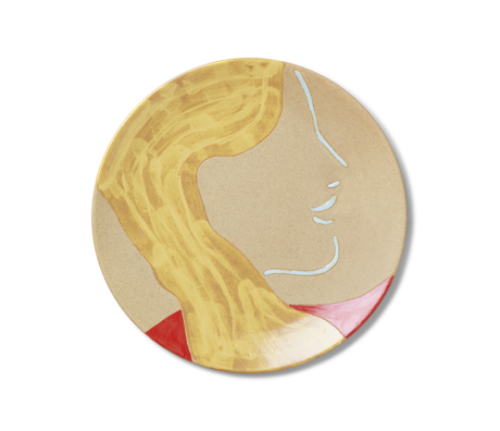 Ferm Living Mira plate multicolour ceramic 37.5x3 cm