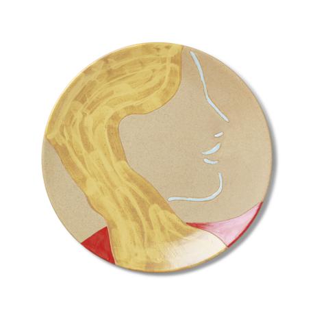 Ferm Living Mira Teller mehrfarbige Keramik 37,5x3 cm
