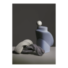 Ferm Living Poster Nexus 1 dusty blauw papier 50x70cm