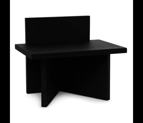 Ferm Living Oblique black wood stool 40x29x33cm