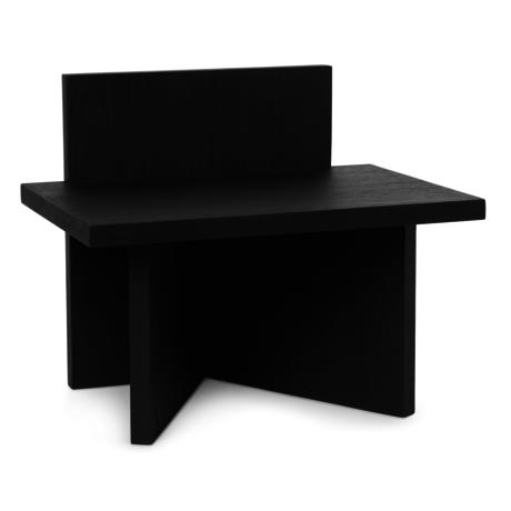 Ferm Living Tabouret Oblique en bois noir 40x29x33cm