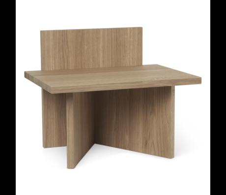 Ferm Living Tabouret Oblique en bois de chêne brun naturel 40x29x33cm