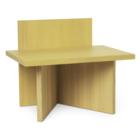 Ferm Living Kruk Oblique geel hout 40x29x33cm