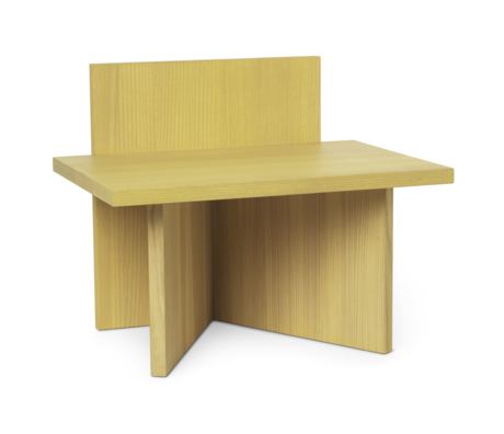 Ferm Living Stool Oblique yellow wood 40x29x33cm