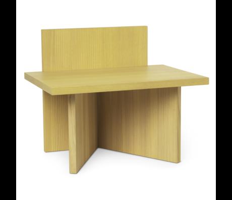Ferm Living Tabouret Oblique en bois jaune 40x29x33cm
