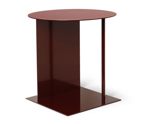 Ferm Living Side table Place red brown metal Ø39,5x50cm
