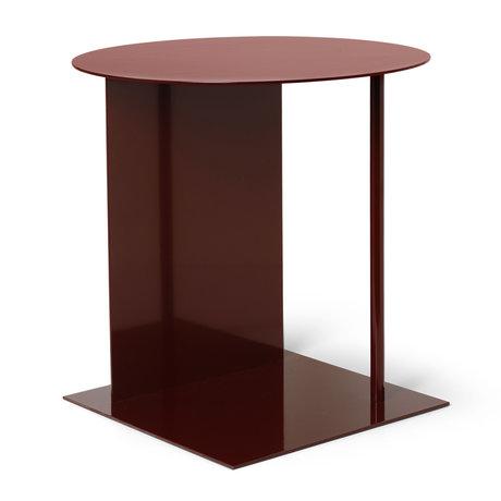 Ferm Living Table d'appoint Place métal brun rouge Ø39,5x50cm