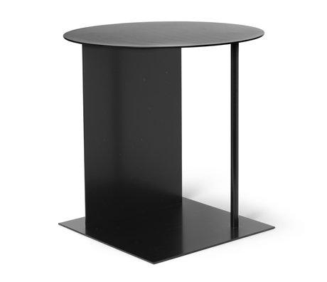 Ferm Living Table d'appoint Place métal noir Ø39,5x50cm
