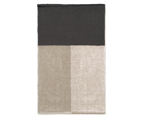 Ferm Living Pile gray textile bath mat 80x50cm