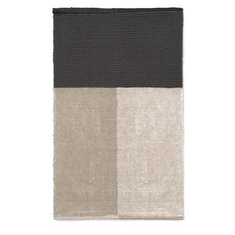 Ferm Living Tapis de bain textile gris pieu 80x50cm