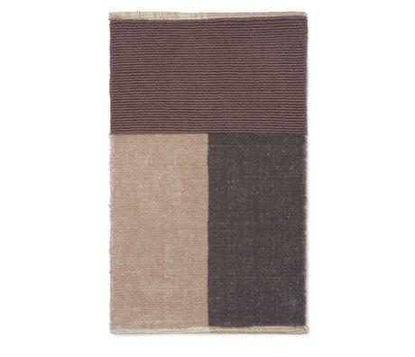 Ferm Living Flor Badematte braun Textil 80x50cm