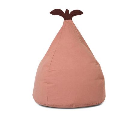 Ferm Living Beanbag Pear dusty pink cotton 55x35x117cm