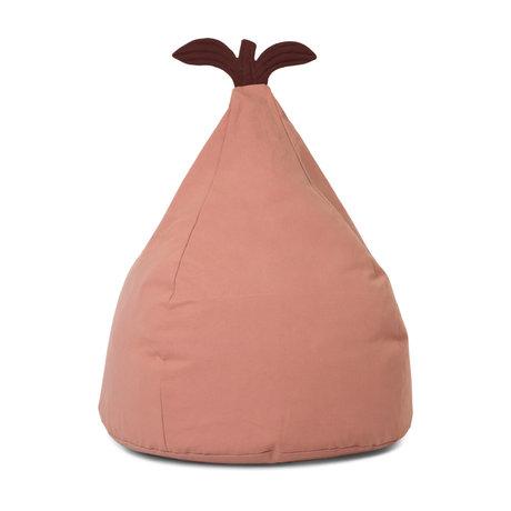 Ferm Living Pouf poire coton rose poudré 55x35x117cm