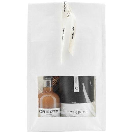 Nicolas Vahe Geschenkpaket Kaffee mit Kaffeebohnen, Schokoladentrüffeln und Kaffeesirup