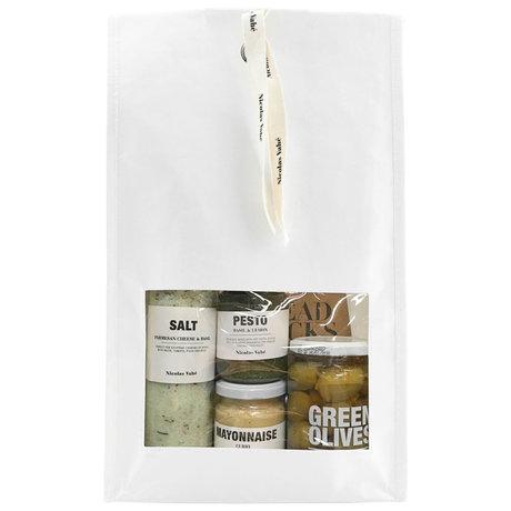 Nicolas Vahe Paquet cadeau Favoris avec sel, pesto, huile d'olive, mayonnaise et gressins