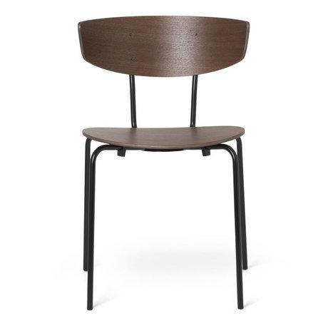 Ferm Living Dining room chair Herman dark brown oak wood 50x47x74cm