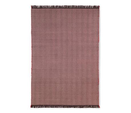 Ferm Living Lebender Teppich Herringbone Aubergine lila Wolle Baumwolle 120x180cm