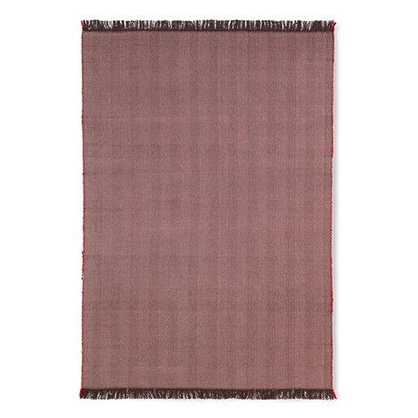 Ferm Living Tapis vivant à chevrons Aubergine violet laine coton 120x180cm