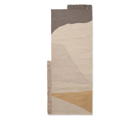 Ferm Living Teppich Kelim Runner Earth mehrfarbige Wolle Baumwolle 180x70cm