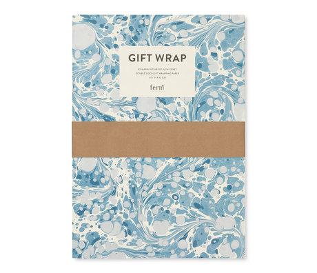Ferm Living Geschenkverpackungsbuch Marmorierung mehrfarbige Geschenkverpackung 60x42cm