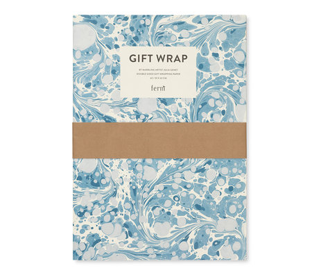 Ferm Living Gift wrapping book Marbling multicolour cadeaupapier 60x42cm