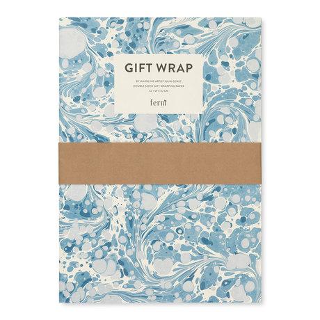 Ferm Living Livre d'emballage cadeau Marbling Emballage cadeau multicolore 60x42cm