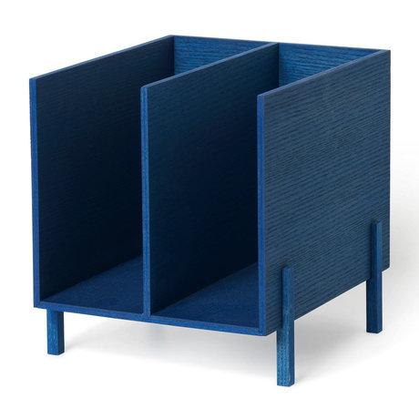 Ferm Living paper organizer blue wood 21x23x22.5cm