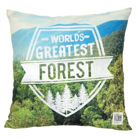 Storebror Cushion Forest Green blue cotton 50x50cm