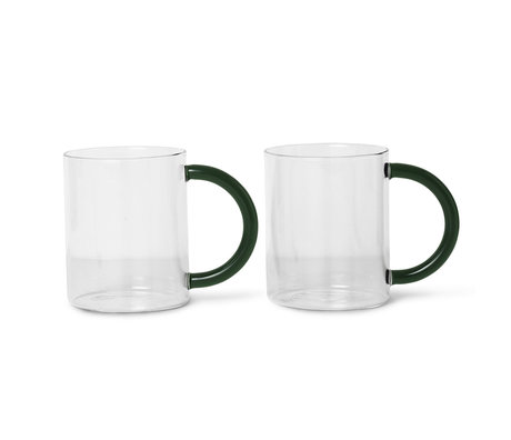 Ferm Living Mok Still transparant glas set van 2 10x8x12,2cm