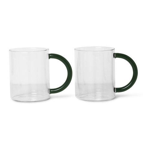 Ferm Living Mug Still transparent glass set of 2 10x8x12.2 cm
