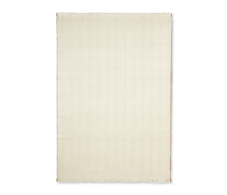 Ferm Living Living rug Herringbone Off-White wool cotton 120x180cm