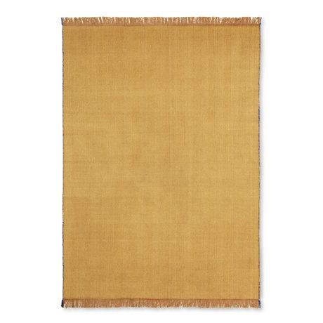 Ferm Living Lebende Teppich Fischgrätenmuster Senf gelbe Wolle Baumwolle 120x180cm