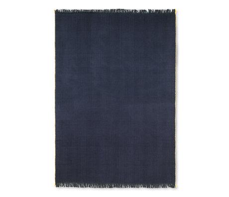 Ferm Living Woondeken Herringbone donker blauw wol katoen 120x180cm