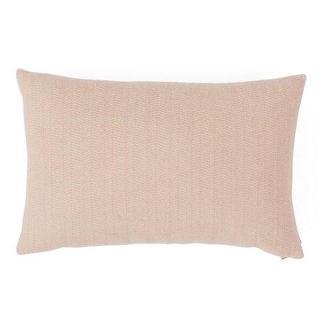 OYOY Coussin décoratif Kata nude en textile rose 40x60cm