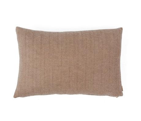 OYOY Coussin décoratif Kata en textile marron clair 40x60cm