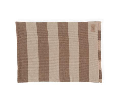 OYOY Plaid Sonno nude brown textile 130x170cm