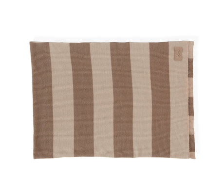 OYOY Plaid Sonno nude bruin textiel 130x170cm