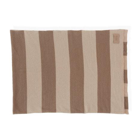 OYOY Plaid Sonno nude braun Textil 130x170cm