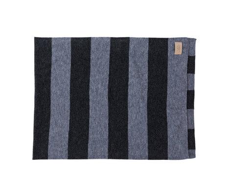 OYOY Plaid Sonno gray blue textile 130x170cm