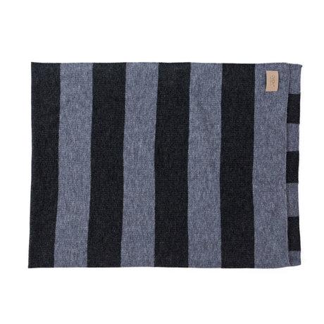 OYOY Plaid Sonno gris bleu textile 130x170cm