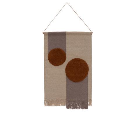 OYOY Kika Wandverkleidung offwhite braun Textil 80x120cm